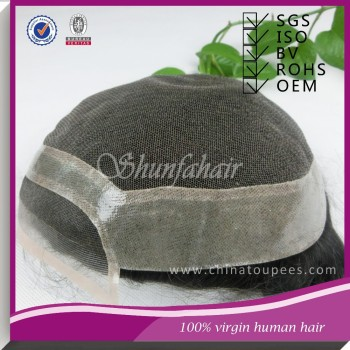 Mens toupees with synthetical hair,hair piece toupee,natural toupee for Christmas Promo