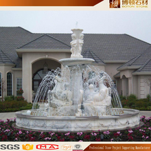Natural Stone Garden Decorative Water Fountains with statues