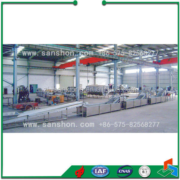 vegetable&fruit drying production plant/pretreatment processing line