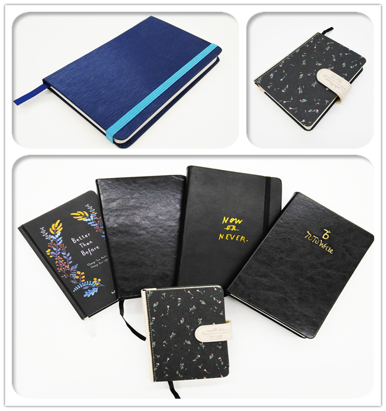 2019 Office Supplies and Stationery A5 Custom High Quality Hardcover PU Leather Journal Writing Notebook