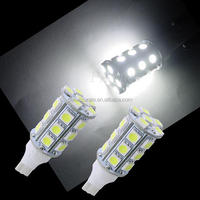 CE RoHS Car Accessories T15 5050 24 SMD LED For Car Auto Tail Light Bulbs Lamp White