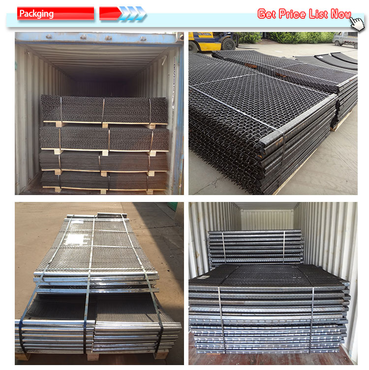 4.5mm diameter woven crimped wire screen mine supporting mesh
