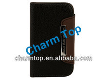 For Samsung i8190 Wallet Leather Case