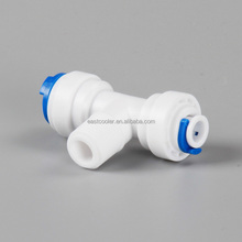 Quick fittings EF007-C-010 NINGBO PUDEKANG ROHS certificate T type Push Fit Pipe Fittings