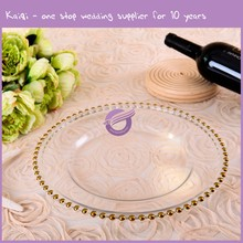 Cheap Banquet Bulk Party Clear Dinner Charger Plates Wedding Reception Tableware Wholesale