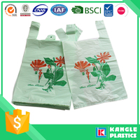 mytext 3 reusable foldable plastic t shirt shopping bag with logo