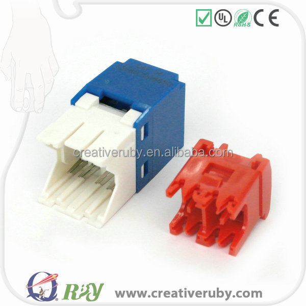UTP Cat6 information outlet RJ45 8P8C connector keystone jack with shutter