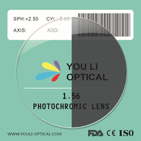 1.56 Photo Grey Optical Glass lens and Semi Finished Optical Lens Blanks