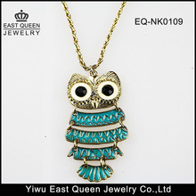 Fashion Cheap Classic Women's Blue Owl Necklace Wholesale