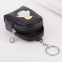 2018 New Arrivals coin purse car pendant mini PU backpack/bag shaped wallet keyring for girls