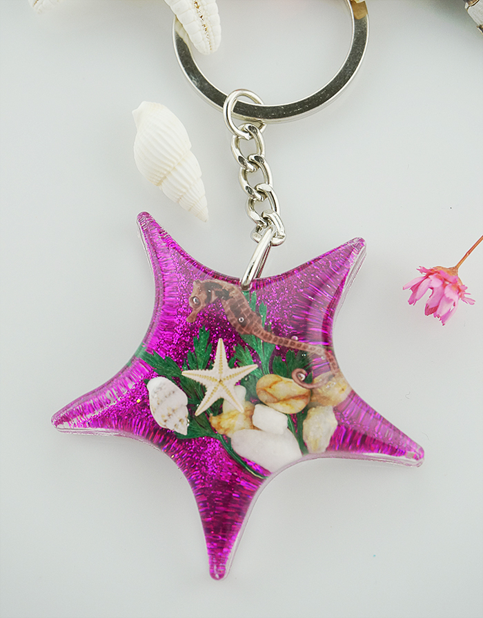 Customize the starfish key chain/ promotional gifts /personality birthday gift
