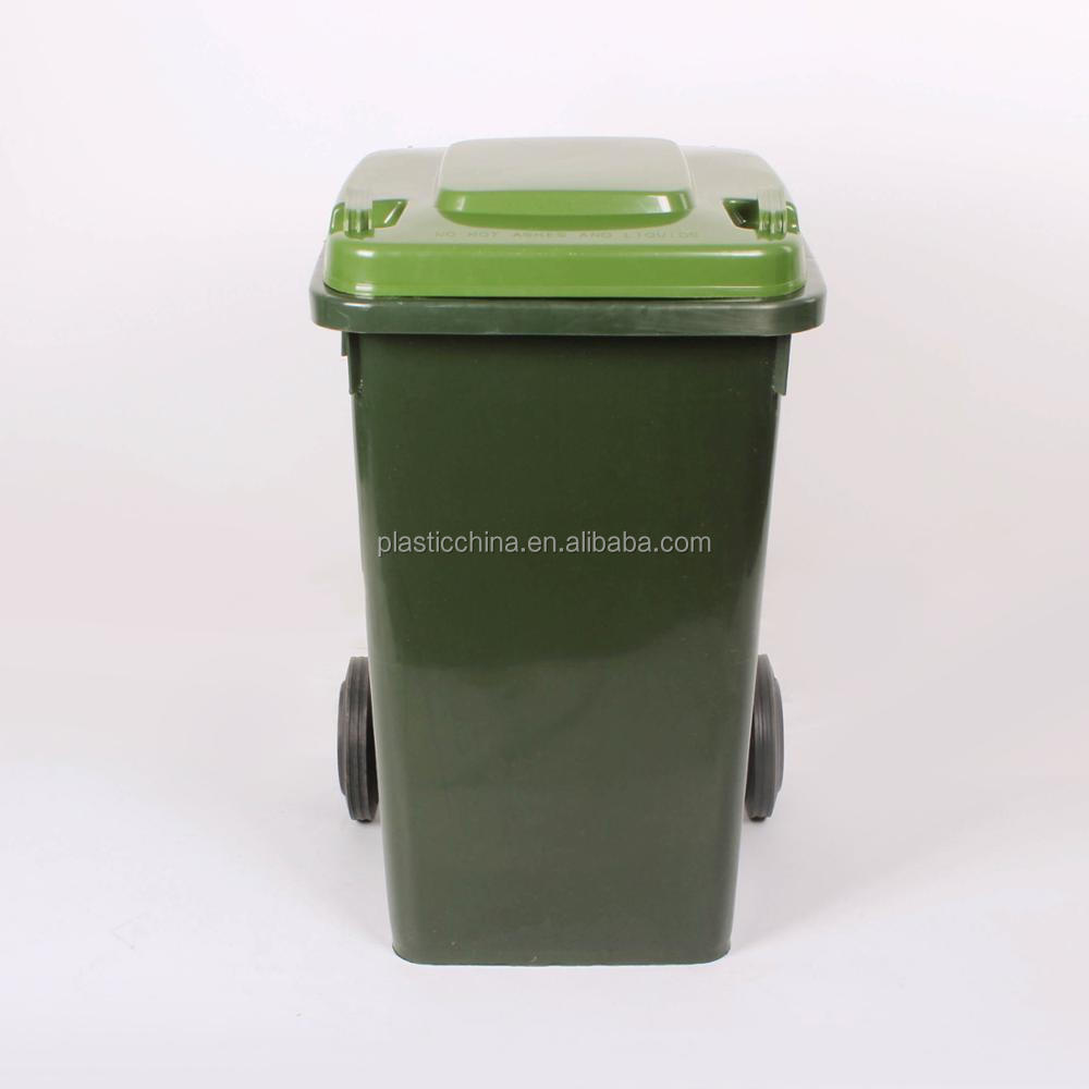 100L outdoor trash can with handle