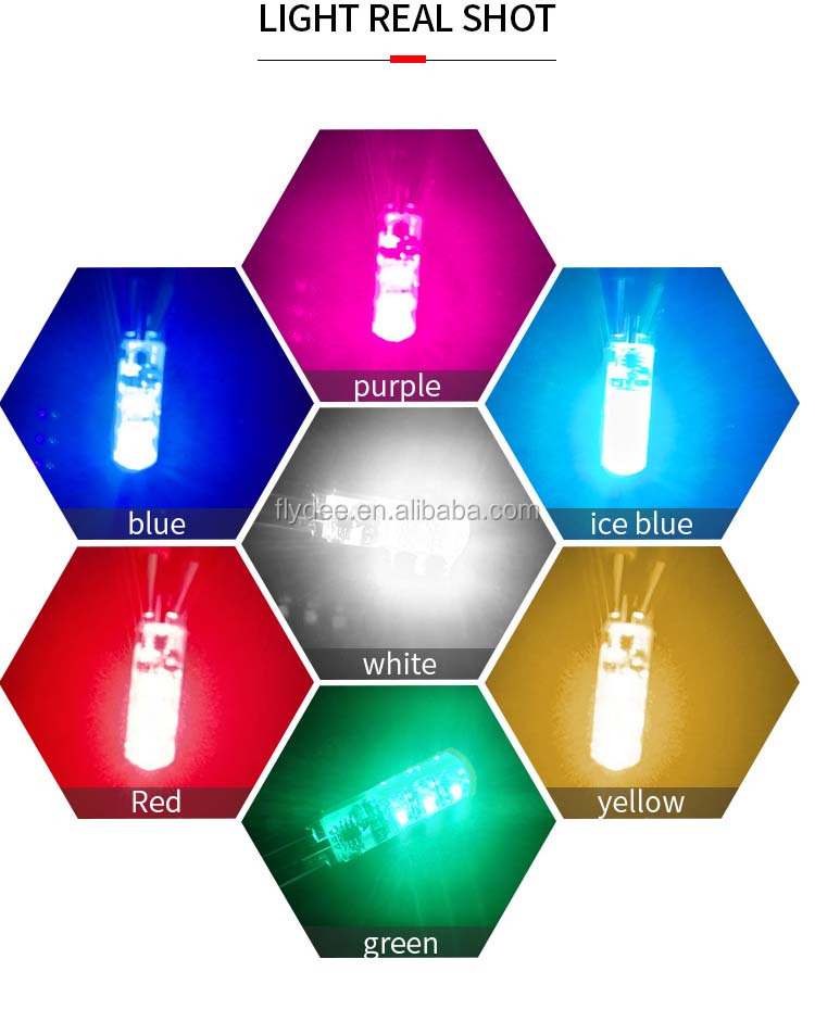 2018 new wholesale T10 RGB 6SMD multi color changing led interior car width colorful light with remote control