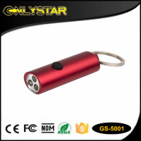 Onlystar GS-5001 Keychain key ring flash bright flashlight white light 3 led flashlight keychain