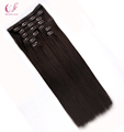 Wholesale Real Human Hair extension clip on hair extensions for black women