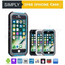 Simply G647/G747 IP68 TPU+PC Fingerprint unlock Ultra slim Anti-skid Simple safe structure design waterproof case for iphone 6