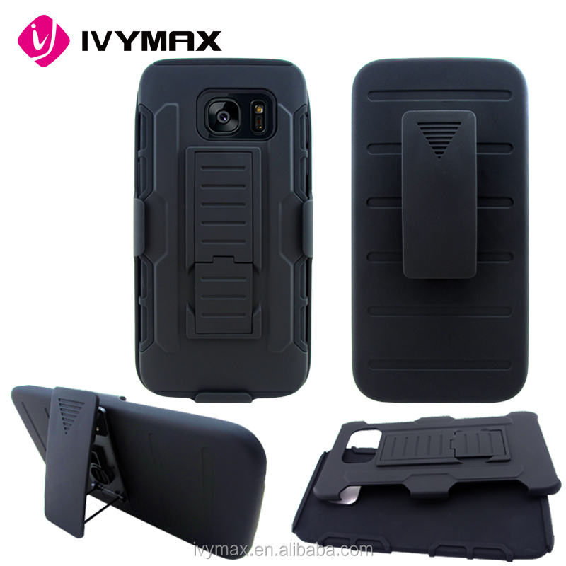 2017 New arrival shockproof holster combo case for galaxy s7 edge, stand robot 3 in 1 mobile phone case for samsung s7 edge