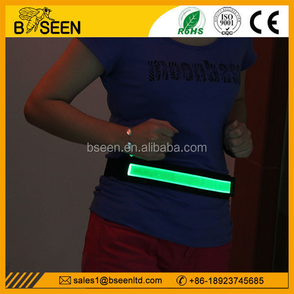 hot product usb rechargeable led luminous reflective belt