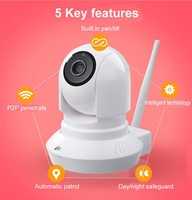 NC500 ip camera with Ap founction auto connect waln or LAN , storage in micro sd card,all in one ip network camera