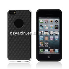 Logo Hole Carbon fibre tpu cases for iphone 5C,new trendy plastic pc tpu case for iphone 5c