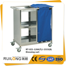 ce quality ss moving linen hospital trolley