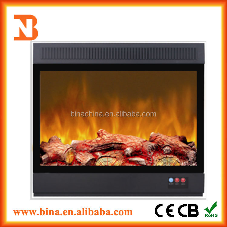 Decor flame effect electric led fireplace insert heater