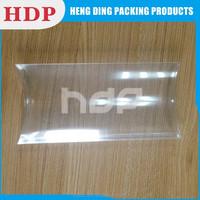 Customized PET PVC PP Clear Plastic Pillow Box