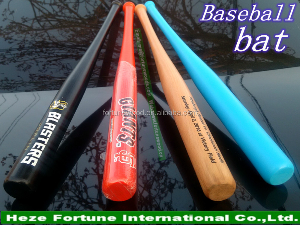Team sports use strong wood baseball bat