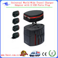 Promotional Worldwide Universal Travel Adapter with USB Charger,Dual USB Travel Charger