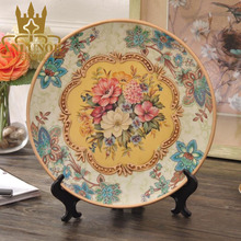 Decoration Handmade Oriental Ceramic Plate Home Decor