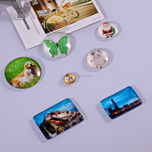 Custom souvenir fridge magnetic sticker crystal glass souvenir magnets