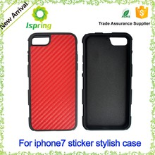For iPhone 6 leather sticker case cover, leather hard case for iPhone 7