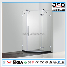 8mm tempered diamond bath glass shower room