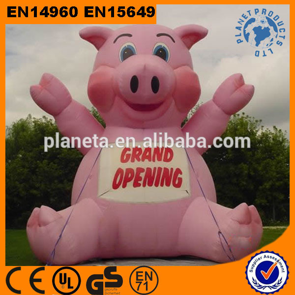 Giant Inflatable Promotion Pig Cartoon For Advertising