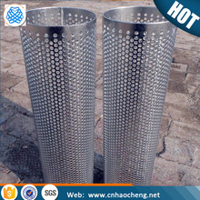 304 316 customized perforated stainless steel wire mesh cylinder filter for water filter