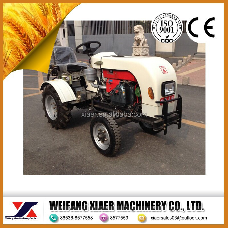 China factory weifang city new desigh white color 12 hp 2WD mini tractor