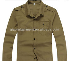 Men's heavy cotton epaulet casual shirt