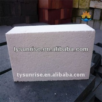 Refractory alumina bubble brick for breast wall of ceramic kilns