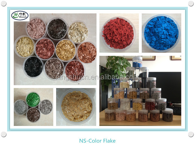 Decorative Epoxy Color Flakes Mica Flakes for Wall Paint / Epoxy Coating