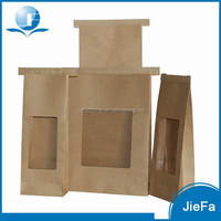 Wholesale Low Price High Quality Kraft Paper Bag With Window And Zipper