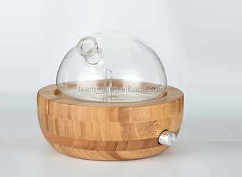 Essential oil Diffuser bamboo base & glass