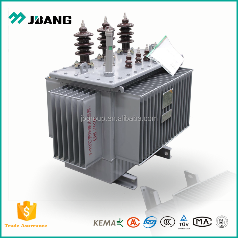 Overload capacity 3 phase electrical oil immersed 100kva transformer