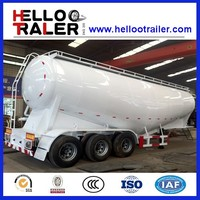 Air Compressor Dry Powder Tanker,Bulk Cement Transport Tank Semi Trailer