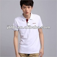 free shipping timely delivery Men's fashion polo soild color t shirt
