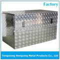 Low profile aluminium truck box with stainless steel lock