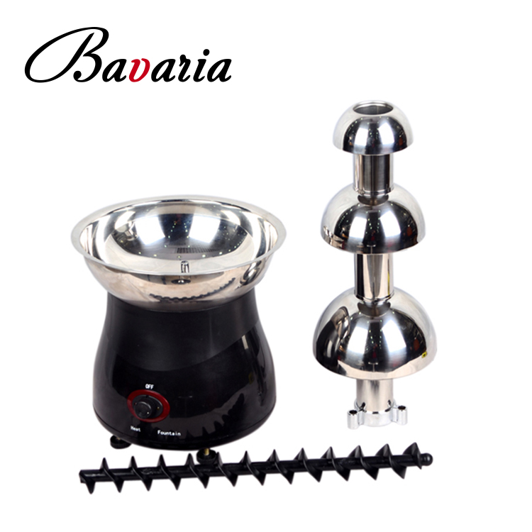 Mini Size Stainless steel electric 3 tiers fountain chocolate for personal used