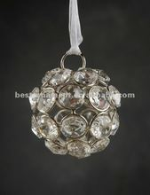 Decorative Hanging Glass Crystal Beaded Balls