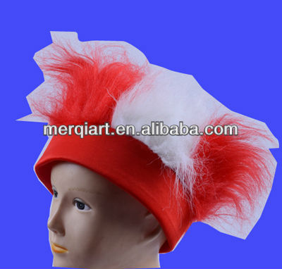 Fashion crazy headband wig for football fans
