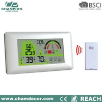 Rf 433mhz wireless weather station outdoor clock with sensor