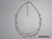 Sterling Silver Beaded Necklace Without Pendant Pearl Necklace